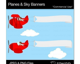 With banner panda free. Airplane clipart message