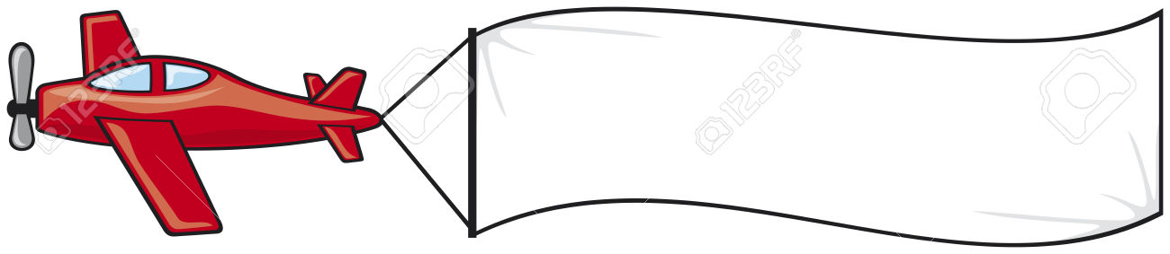 Aircraft pencil and in. Clipart plane banner