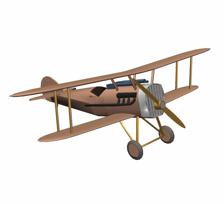 Biplane wwi airplane