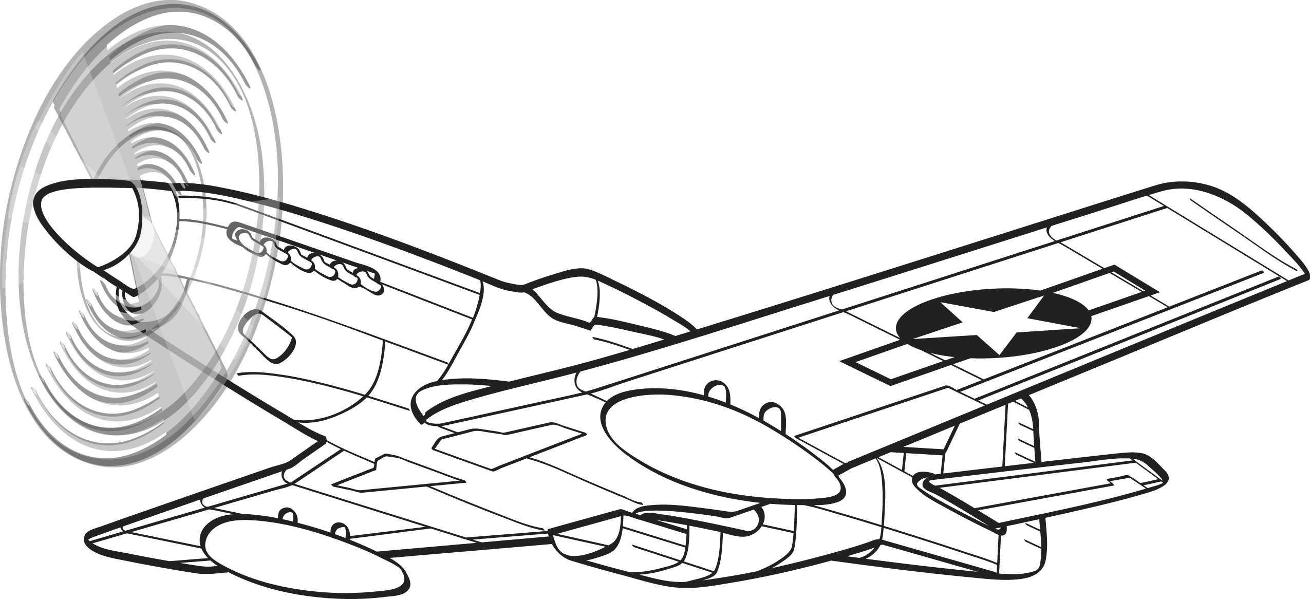 Fancy coloring pages on. Airplane clipart mustang