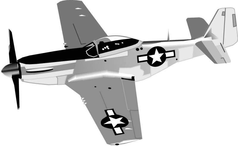 P. Airplane clipart mustang