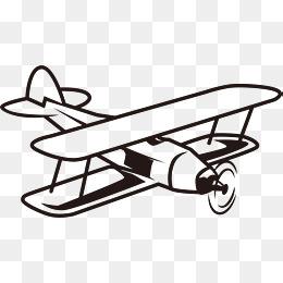 Aircraft png vectors psd. Biplane clipart vintage