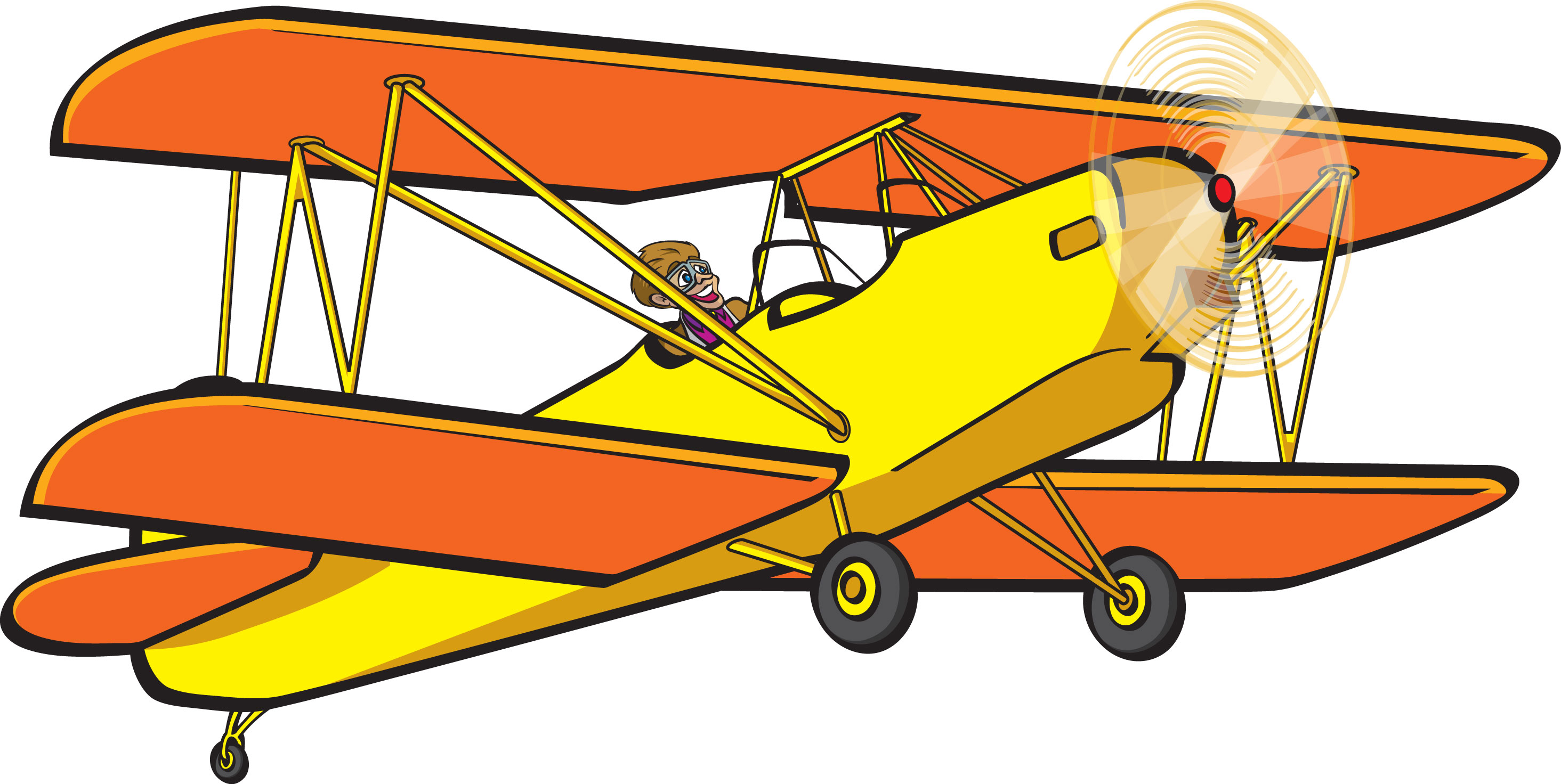 Image of red baron. Biplane clipart rc airplane