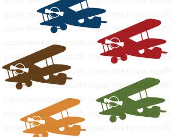 Biplane clipart antique plane, Biplane antique plane ...