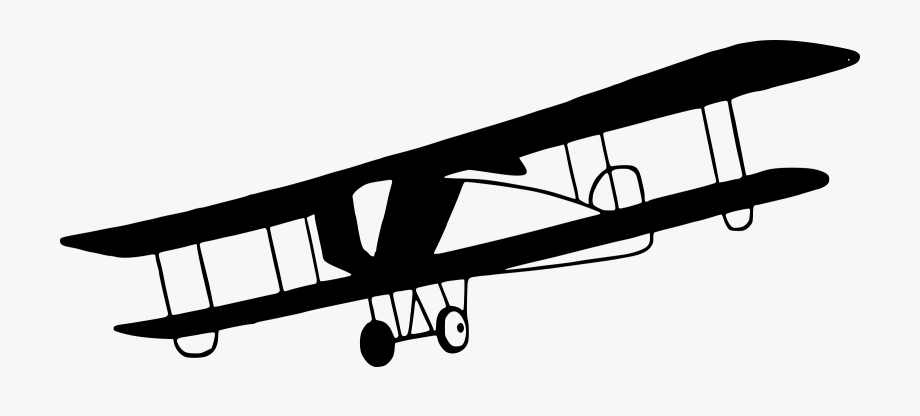 Aircraft antique airplane plane. Biplane clipart old fashioned