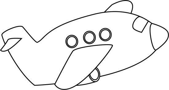 Plane cilpart impressive design. Blue clipart black and white