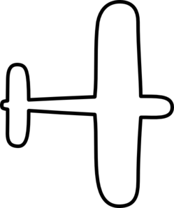 Biplane clipart outline. Airplane