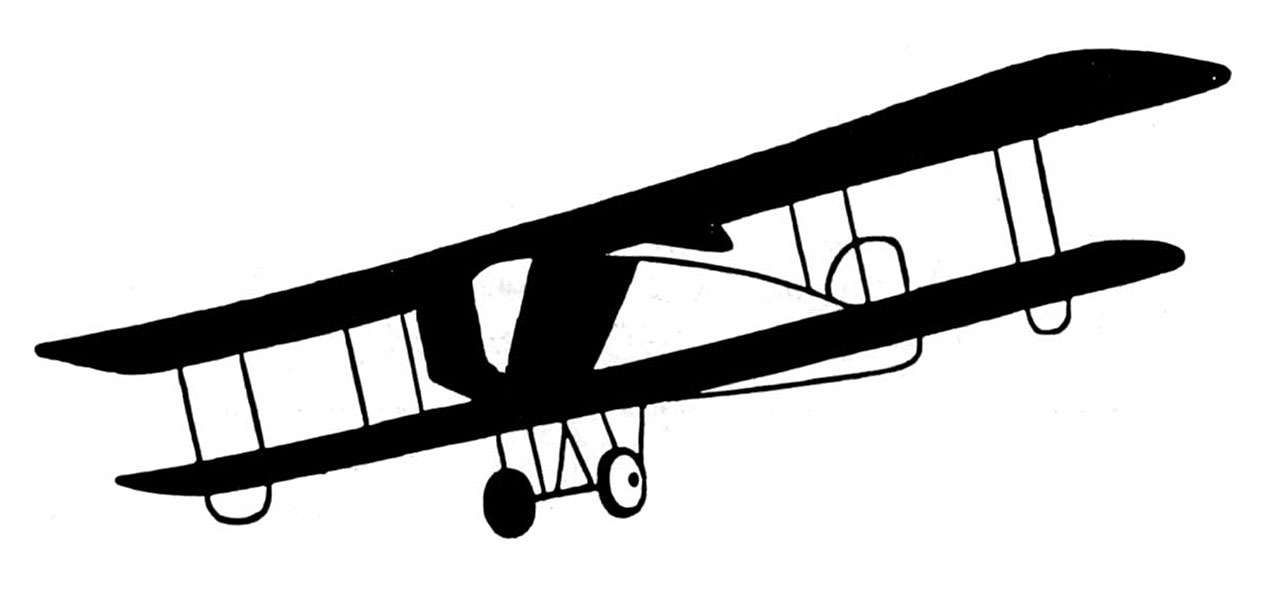 biplane clipart old fashioned