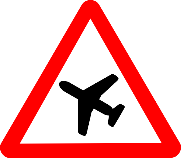 Clipart plane sign. Airplane road clip art