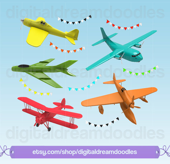 Plane png planes colorful. Airplane clipart scrapbook
