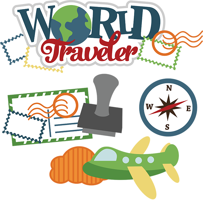 Airplane clipart scrapbook. World traveler svg vacation