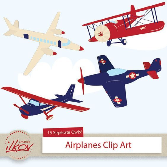 Professional kids for digital. Airplane clipart scrapbook