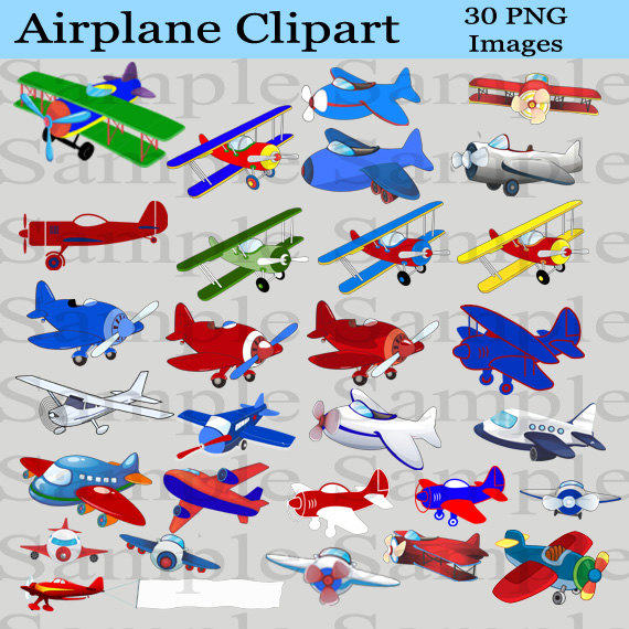 Instant download for digital. Airplane clipart scrapbook