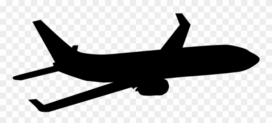 Airplane silhouette clip art. Flying clipart aerospace