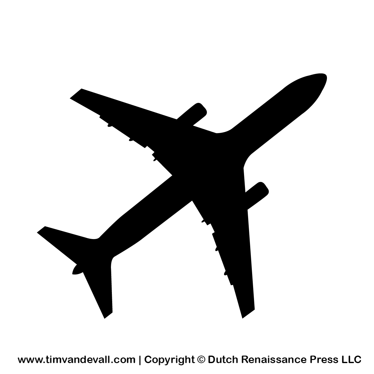This is a picture of Printable Airplane Template for aeroplane