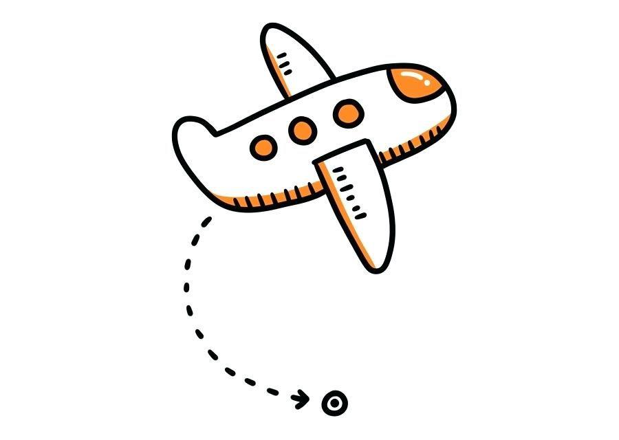 Airplane clipart simple. Pattern cartoon clip art