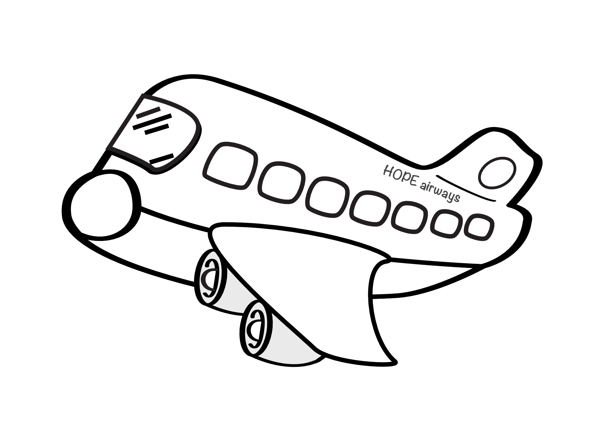 Free drawing pictures download. Airplane clipart simple