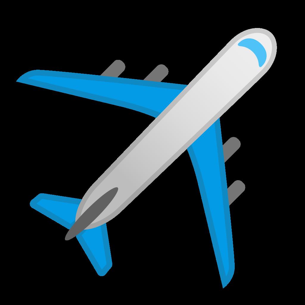 Airplane icon png. Noto emoji travel places