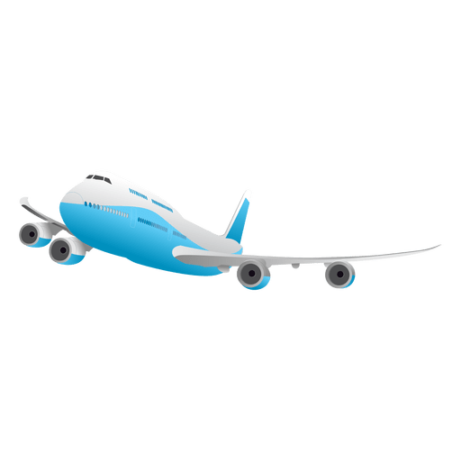Flying glossy transparent svg. Airplane vector png