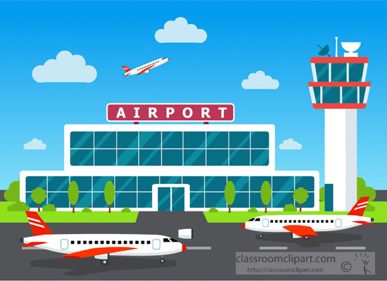 Airport clipart. Aircraft illustration of air