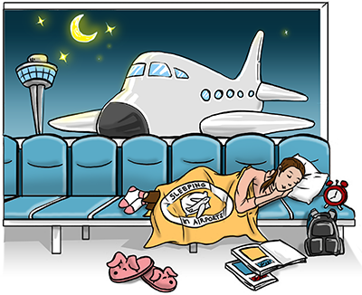 Airport clipart air port. The guide to sleeping