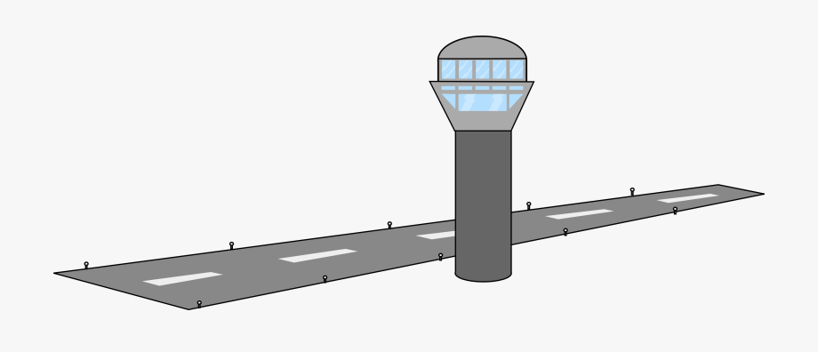 Airport clipart airfield. Free tower runway