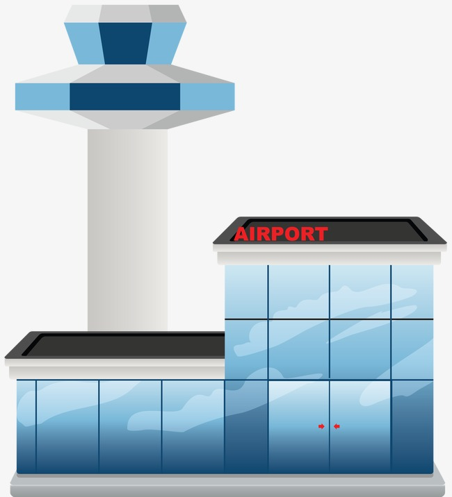 Cartoon icon construction ppt. Airport clipart airport building