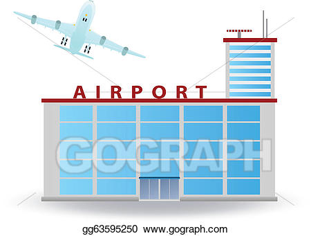 Airport clipart airport building. Vector stock illustration gg