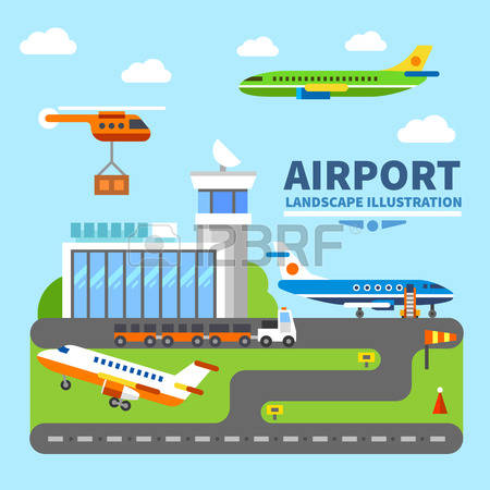 Station . Airport clipart airport building