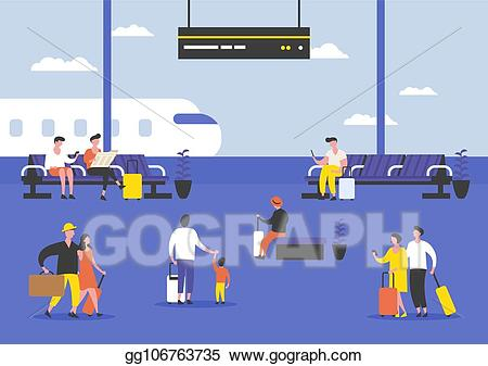 Eps vector passengers or. Airport clipart airport passenger