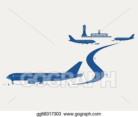 Vector stock illustration gg. Airport clipart airport passenger