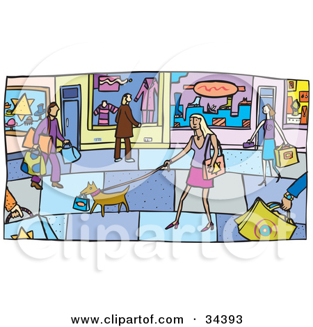 Mall clipart mall scene. People clipground preview