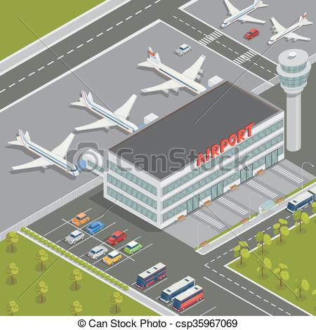 Airport clipart airport station. Building