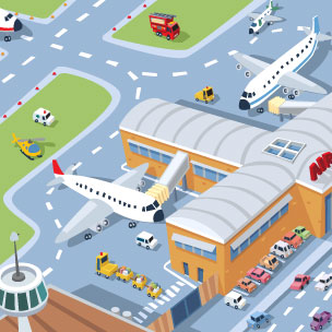 . Airport clipart airport station