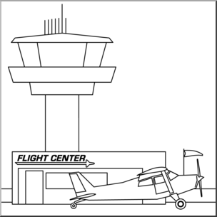 Clip art buildings and. Airport clipart airport terminal