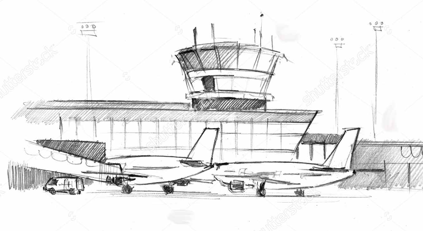 Airport clipart airport terminal. Multi r million upgrade