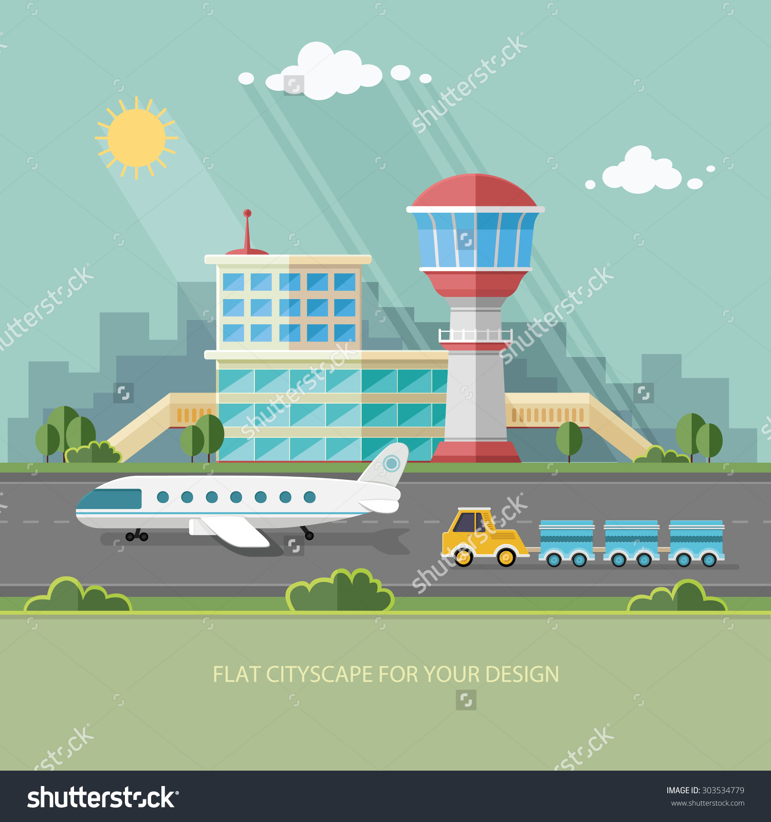 Airfield tower free collection. Airport clipart airport terminal
