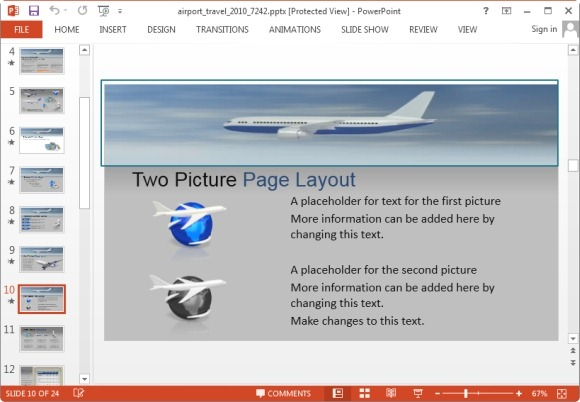 Powerpoint templates . Airport clipart animated