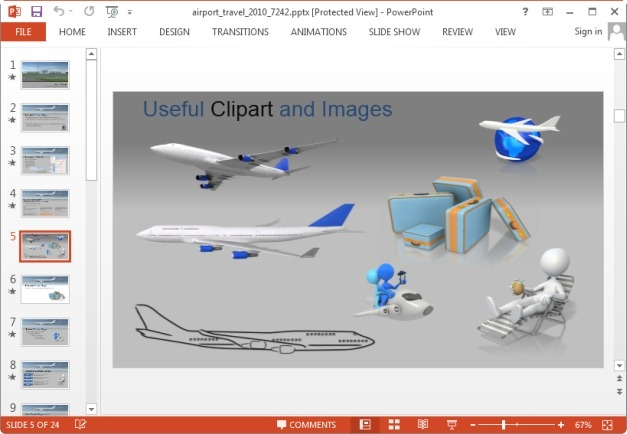 Airport clipart animated. And travel powerpoint templates