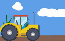 Transportation gifs tractor size. Airport clipart animated