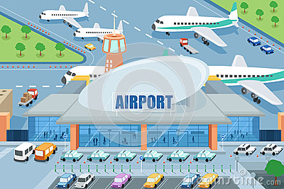 Cliparts. Airport clipart animated