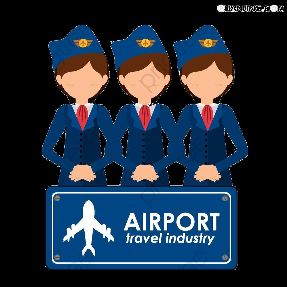 Airport clipart animated. Cartoon customer service staff