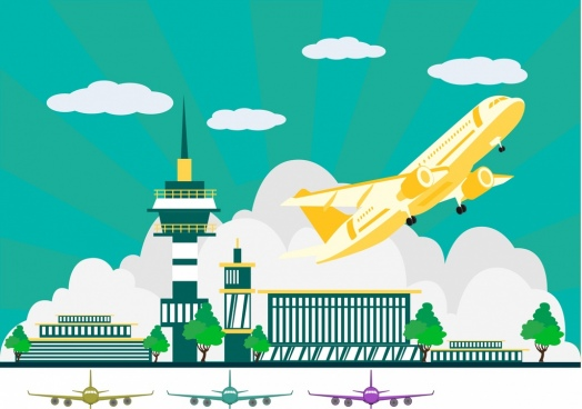 Airplane free vector download. Airport clipart background