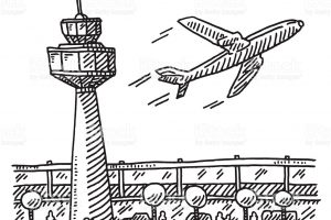 A download station page. Airport clipart black and white