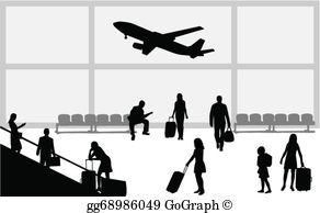 Vector stock illustration gg. Airport clipart black and white