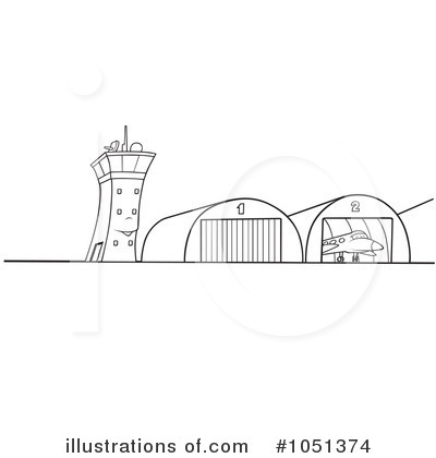 Airport clipart black and white. Illustration by dero royaltyfree