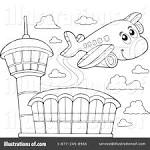 Clipartuse . Airport clipart black and white