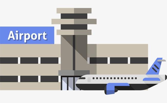 Portal . Airport clipart cartoon