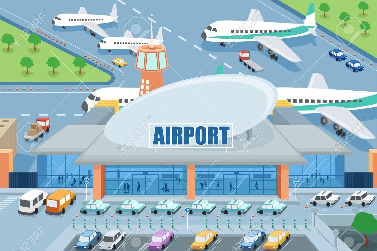 Royalty free rf gate. Airport clipart cartoon