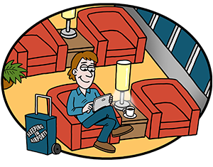 Lounges guide. Airport clipart departure lounge